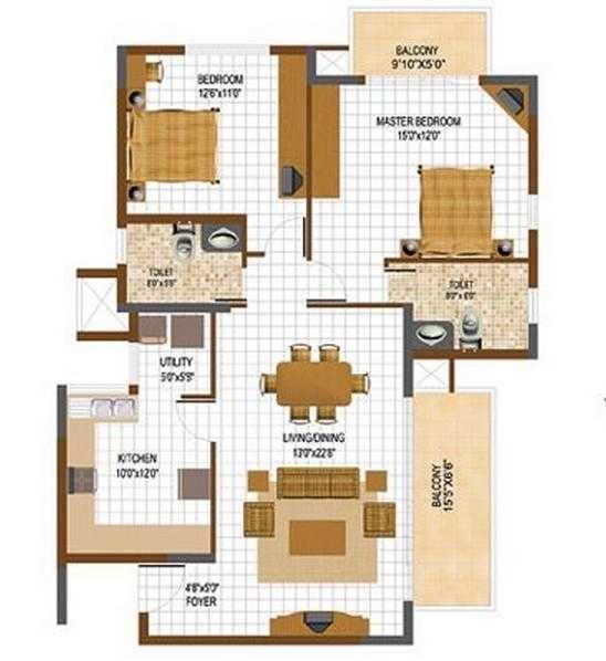 prestige south ridge apartment 2bhk 2100sqft 20205701105700