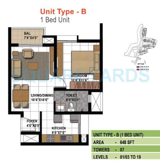prestige temple bells apartment 1bhk 648sqft1