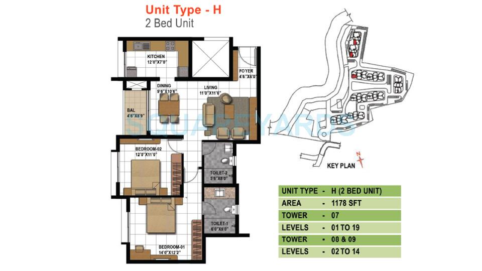 prestige temple bells apartment 2bhk 1178sqft1