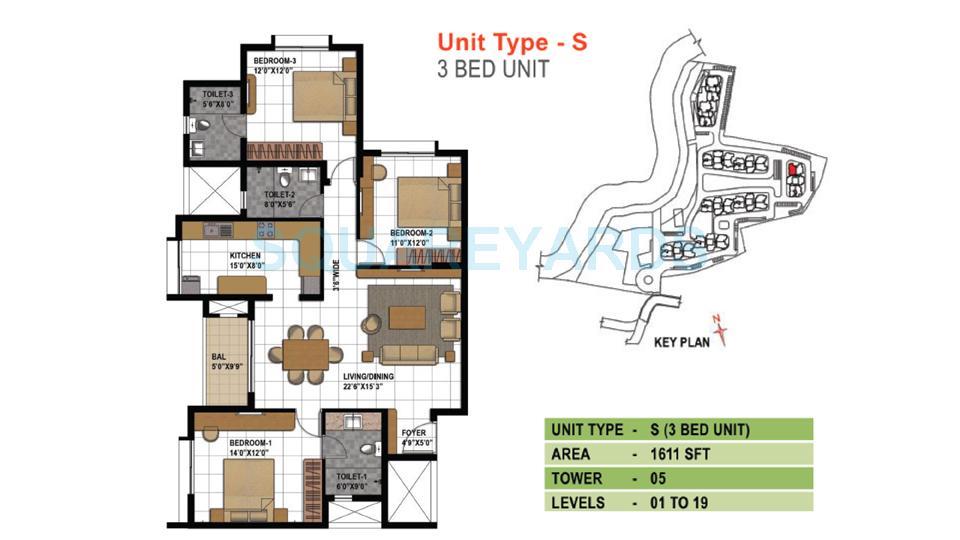 prestige temple bells apartment 3bhk 1611sqft1