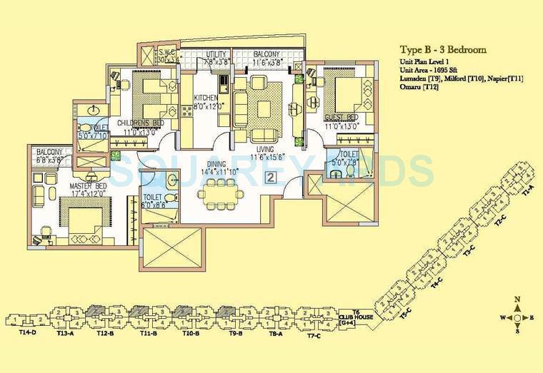 prestige wellington park apartment 3bhk 1695sqft1
