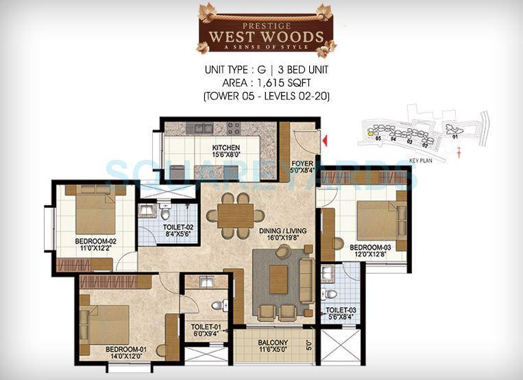 prestige west woods apartment 3bhk 1615sqft1