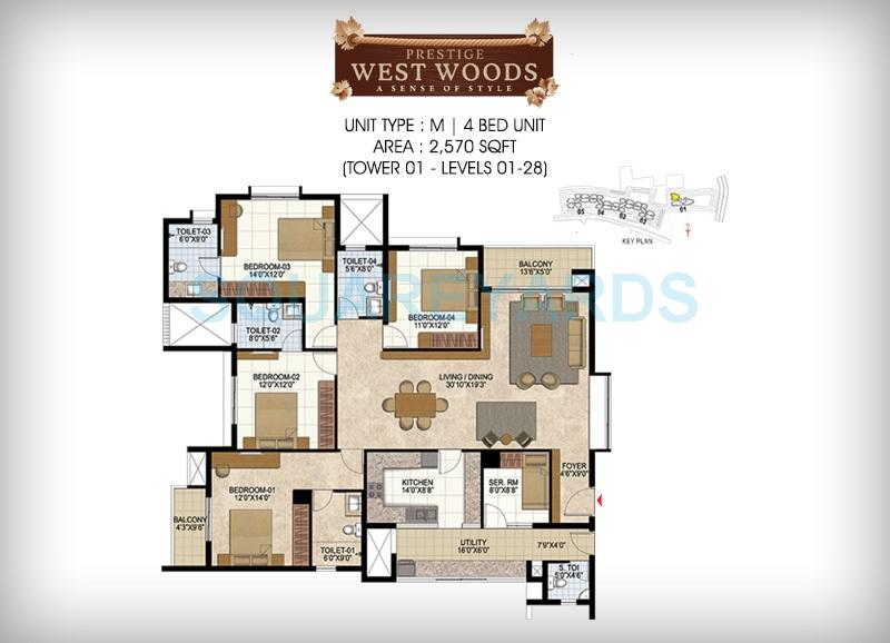 prestige west woods apartment 4bhk 2570sqft1