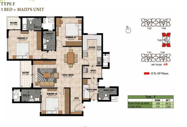 prestige willow tree apartment 3bhk 1812sqft1