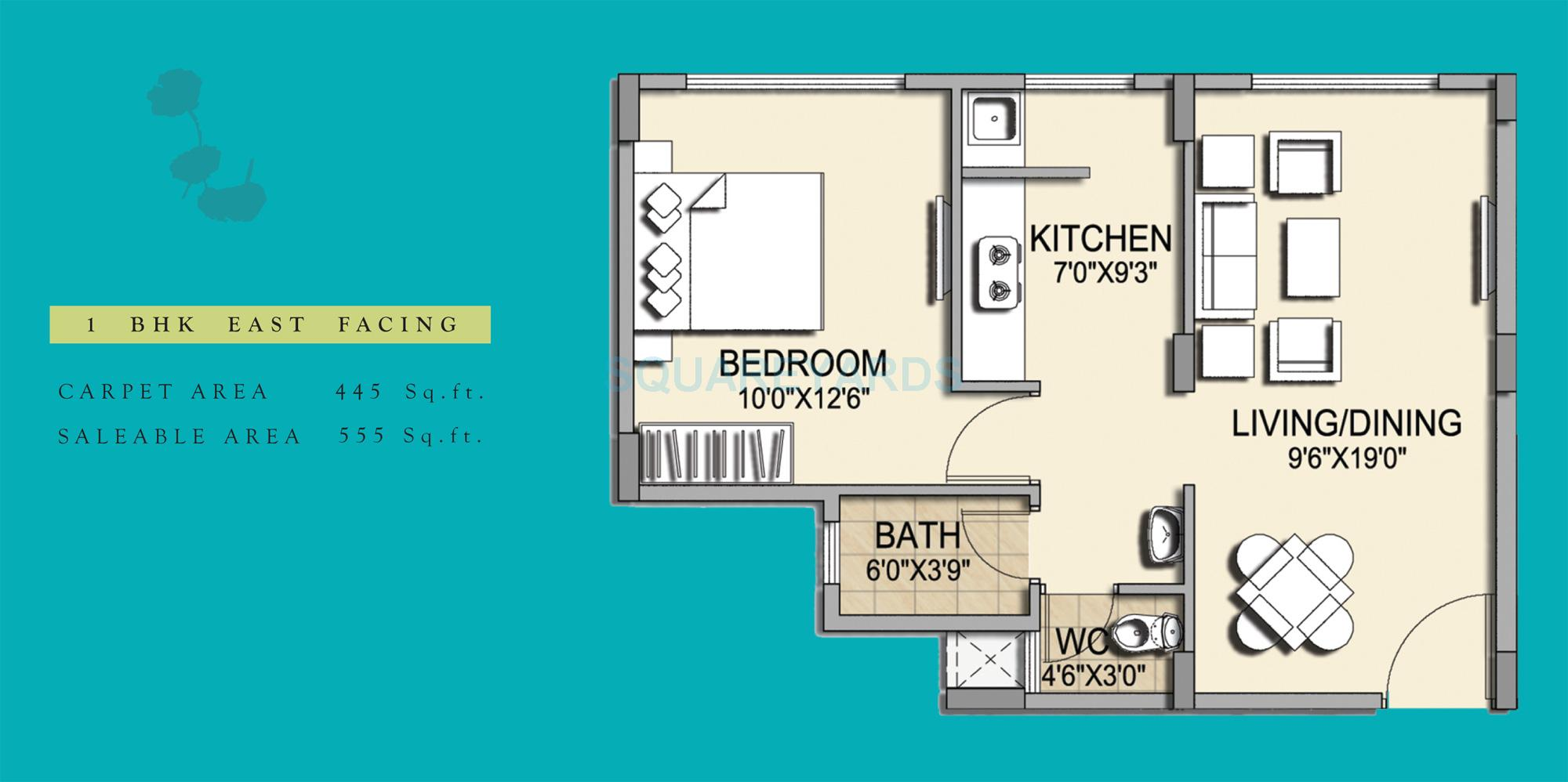 pride horizon apartment 1bhk 555sqft1