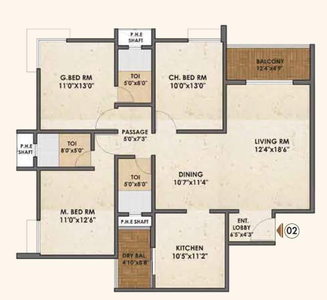 pride palatia apartment 3bhk 1560sqft 1