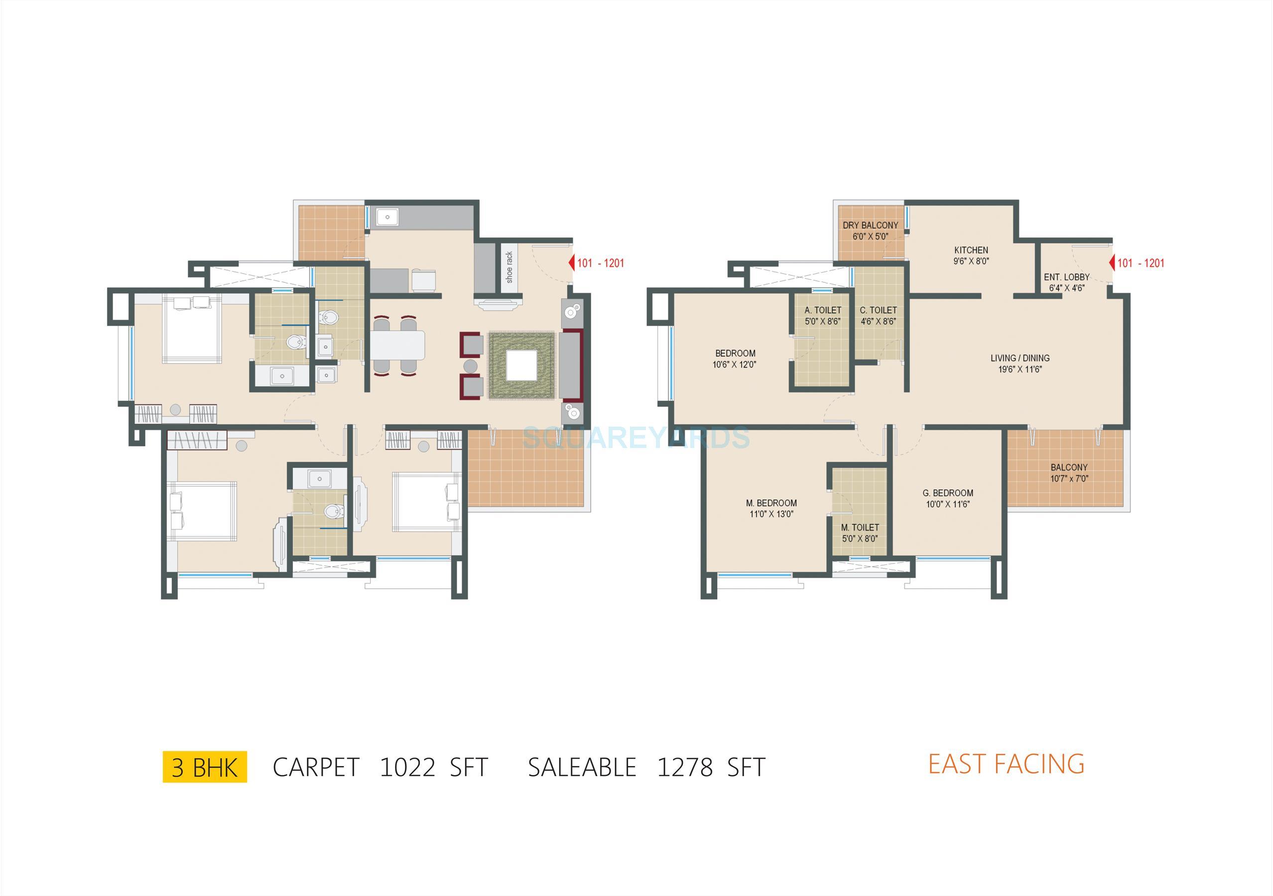 pride springfields apartment 3bhk 1278sqft1