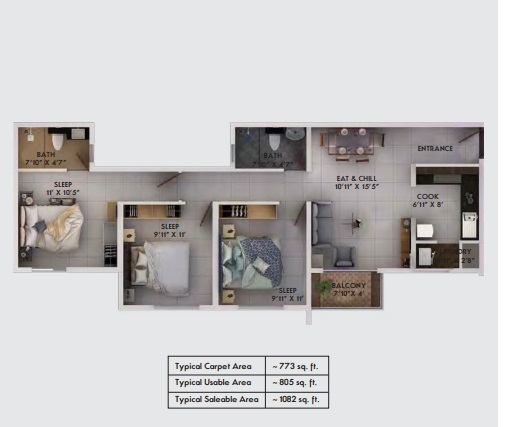 provident equinox 2 apartment 3bhk 1082sqft11