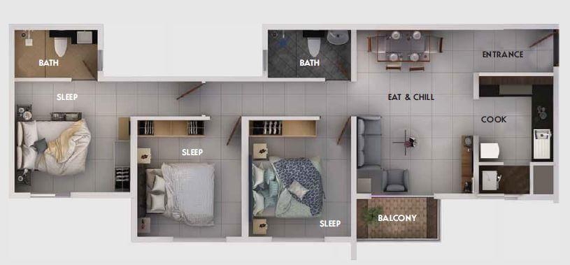 provident equinox apartment 3bhk 1082sqft 1