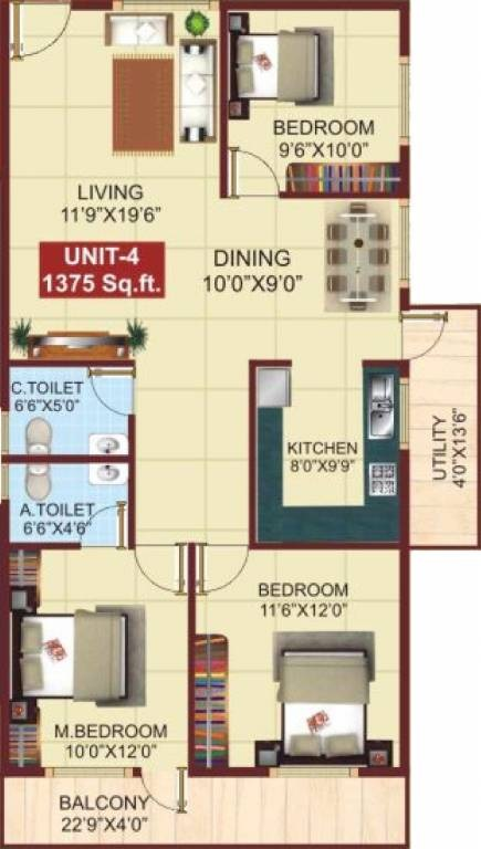 psr aster apartment 3bhk 1375sqft101