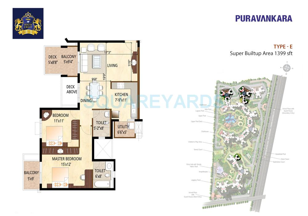 puravankara high crest apartment 2bhk 1339sqft1