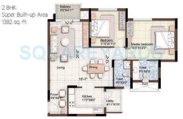 puravankara purva 270 degree apartment 2bhk 1392sqft1