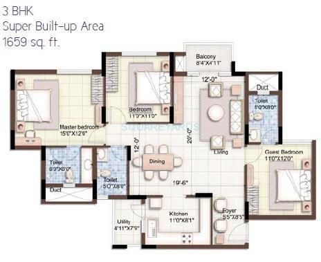puravankara purva 270 degree apartment 3bhk 1659sqft1