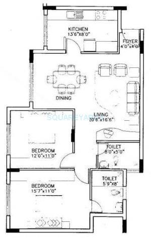 puravankara purva riviera apartment 2bhk 1117sqft1