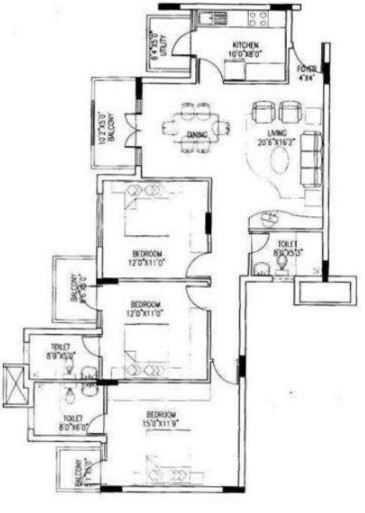 puravankara purva riviera apartment 3 bhk 1898sqft 20204506104532