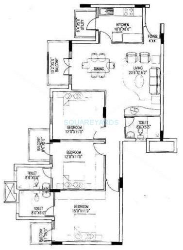 puravankara purva riviera apartment 3bhk 1583sqft1