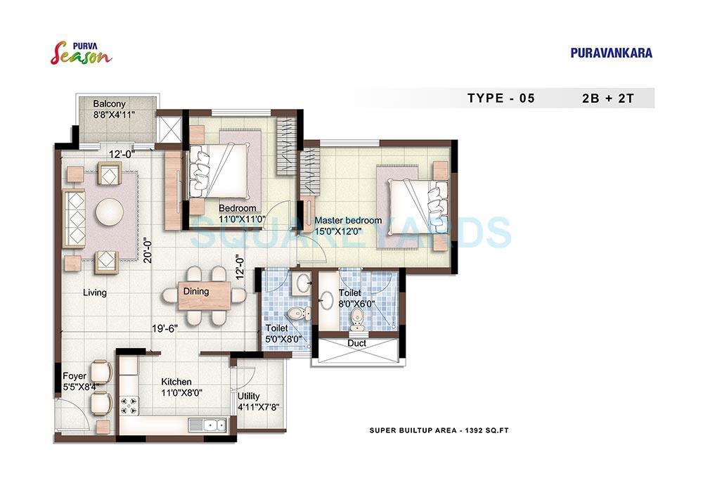 puravankara purva season apartment 2bhk 1392sqft1