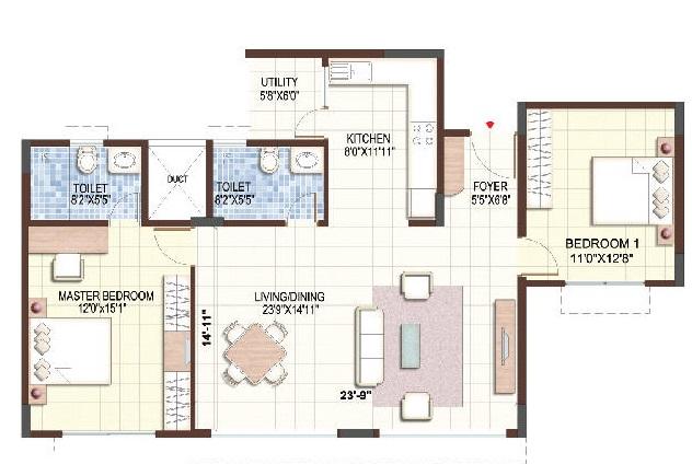 puravankara purva sunflower apartment 2 bhk 1216sqft 20203110183107