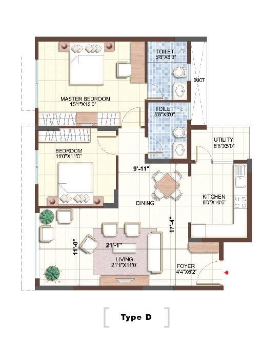puravankara purva sunflower apartment 2 bhk 1222sqft 20203210183214