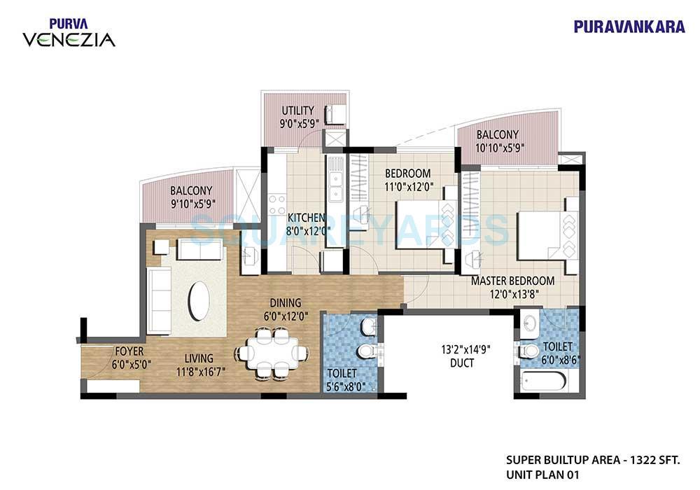 puravankara purva venezia apartment 2bhk 1322sqft1