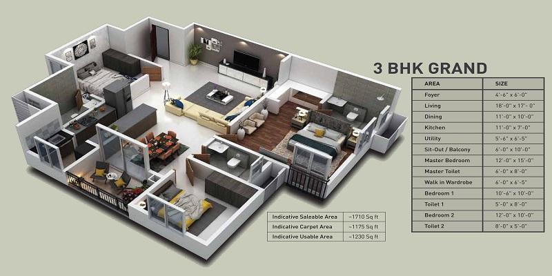 puravankara purva zenium apartment 3bhk 1710sqft51