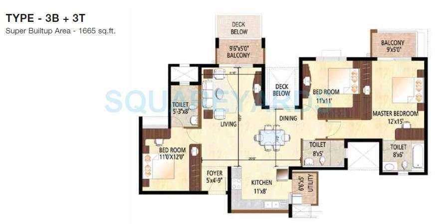 puravankara sky condos series 1 apartment 3bhk 1665sqft1