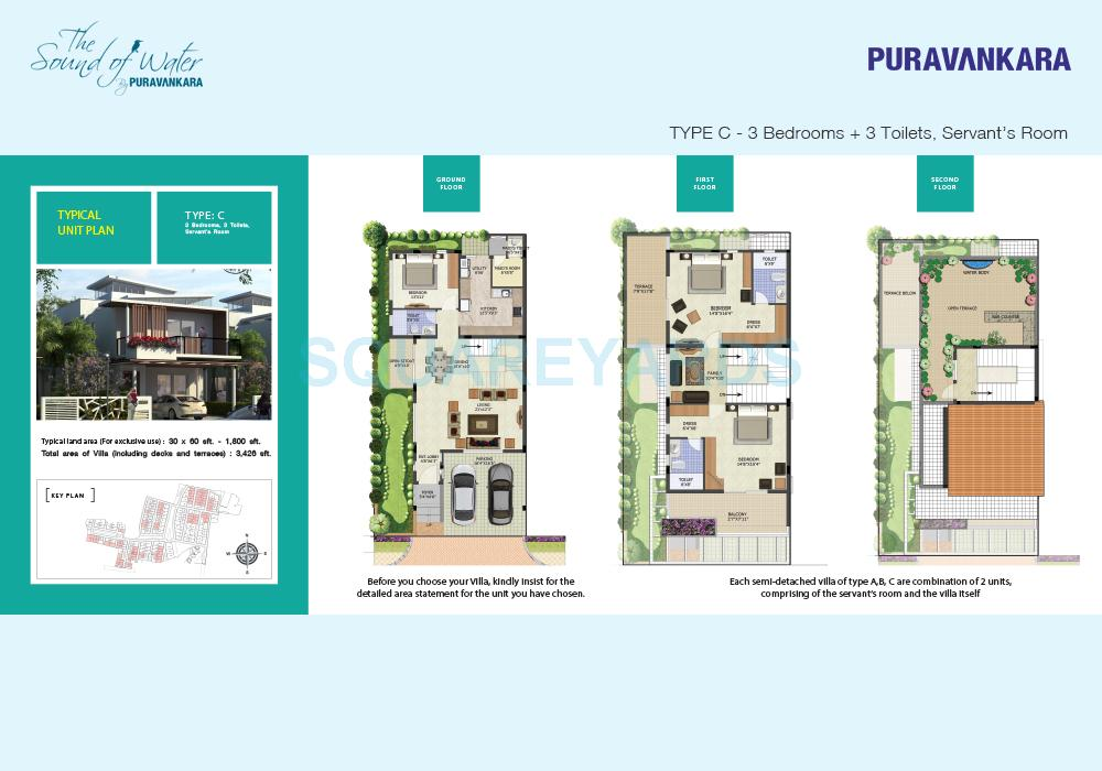 puravankara the sound of water villa 3bhk 3426sqft1
