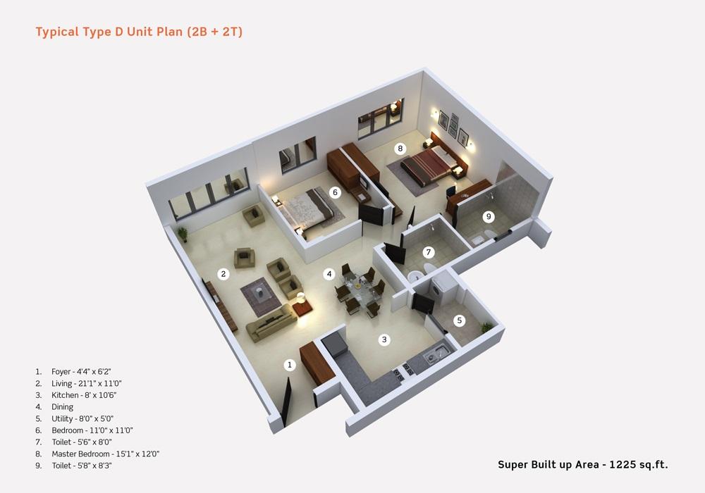 purva limousine homes apartment 2 bhk 1225sqft 20201011111042