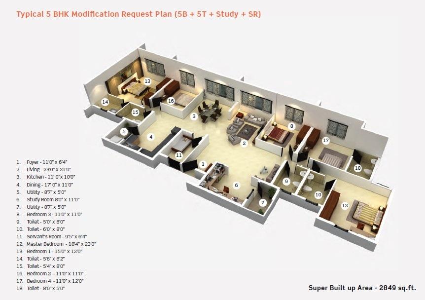 purva limousine homes apartment 5bhk 2849sqft41
