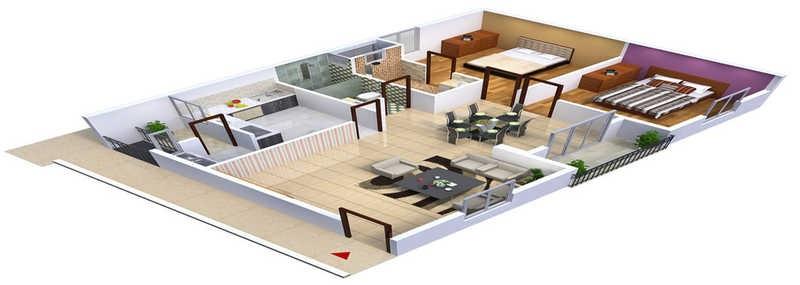 purva mithra apoorva elite apartment 2 bhk 970sqft 20201008161010
