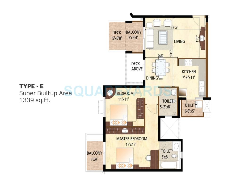 purva scarlet terraces apartment 2bhk 1339sqft 1
