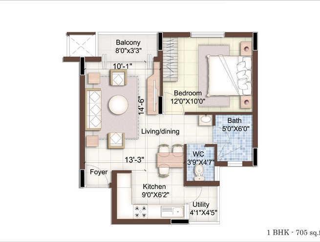 purva seasons apartment 1bhk 705sqft21