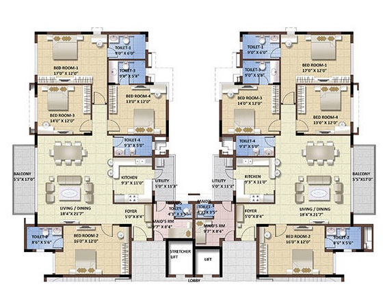 purva whitehall 3 apartment 4 bhk 2252sqft 20204609104612