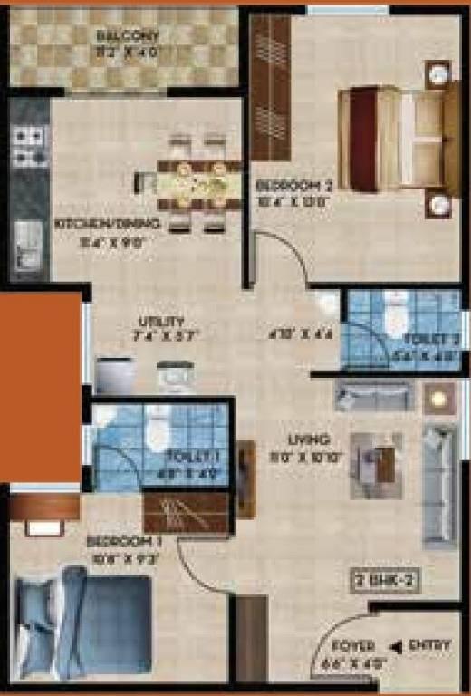 rainvas rain bow oaks apartment 2 bhk 602sqft 20200827140803