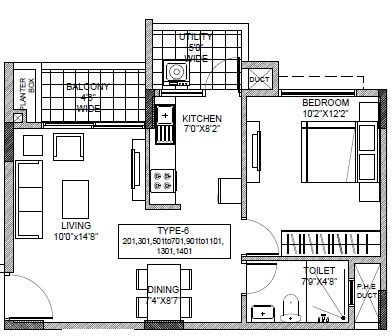 ramky one carnival apartment 1bhk 676sqft 1