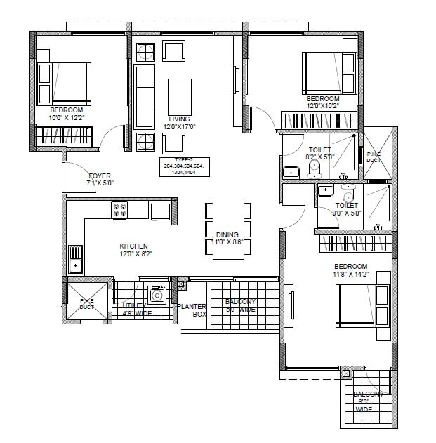ramky one carnival apartment 3bhk 1455sqft 1