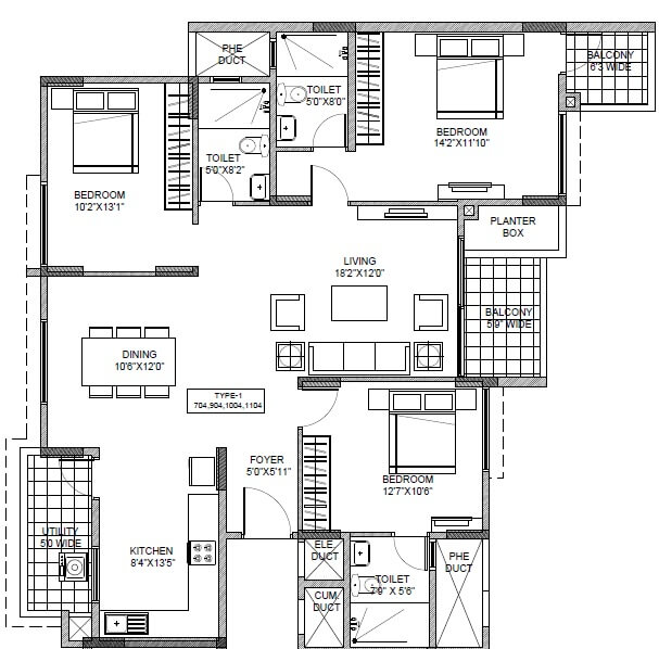 ramky one carnival apartment 3bhk 1657sqft 1