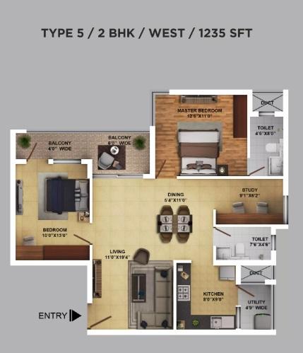 ramky one karnival apartment 2 bhk 1235sqft 20202211142218