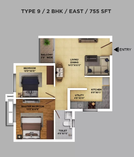 ramky one karnival apartment 2 bhk 755sqft 20202111142127