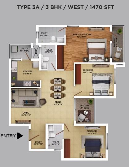ramky one karnival apartment 3 bhk 1470sqft 20200611150652