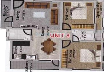 revival lakshya homes apartment 2bhk 1010sqft1