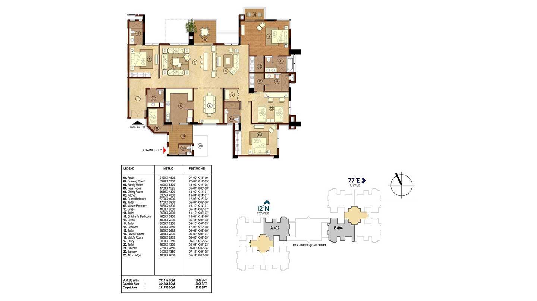 rmz latitude apartment 4bhk 3895sqft31