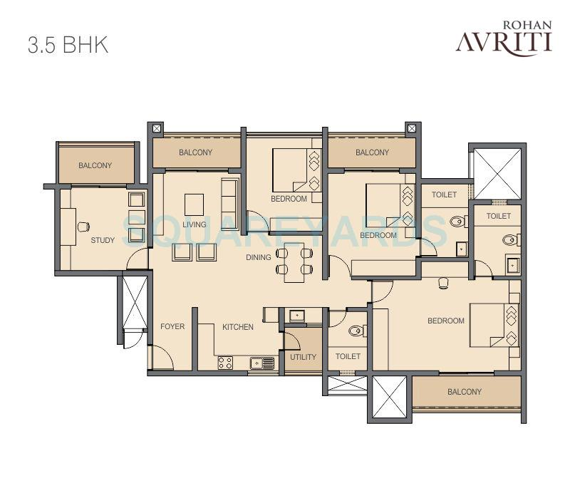 rohan avriti apartment 3bhk 1900sqft1