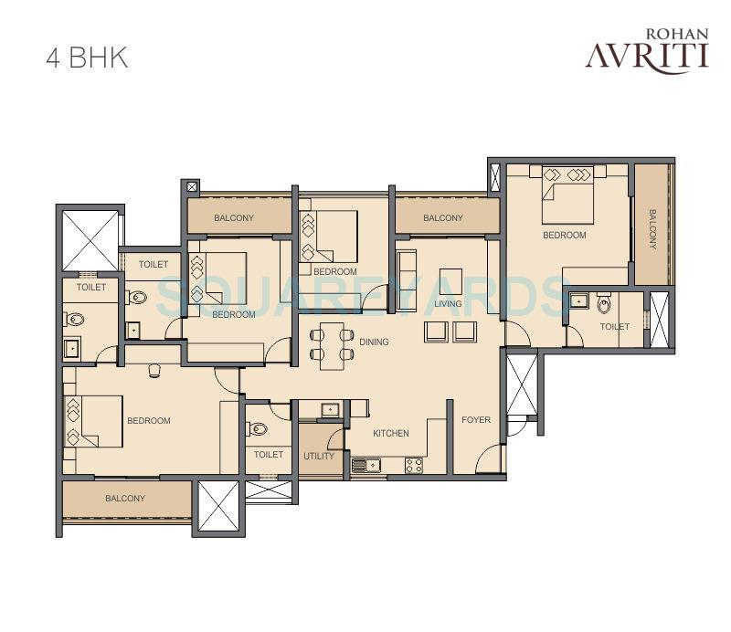 rohan avriti apartment 4bhk 2913sqft1