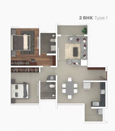 rohan iksha apartment 2bhk 780sqft 1