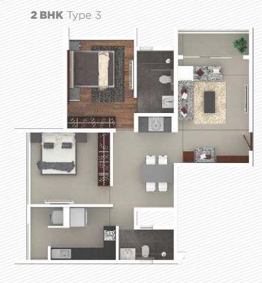 rohan iksha apartment 2bhk 862sqft 1