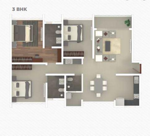 rohan iksha apartment 3bhk 1073sqft 1