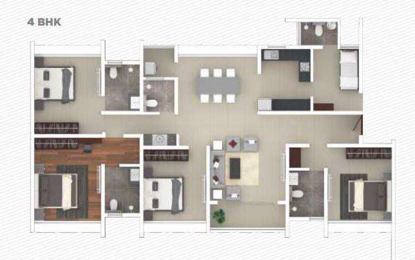 rohan iksha apartment 4bhk 1618sqft 1