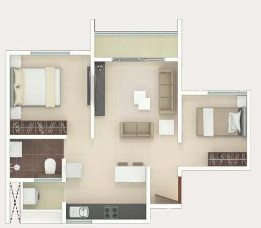 rohan upavan apartment 1bhk 480sqft 1