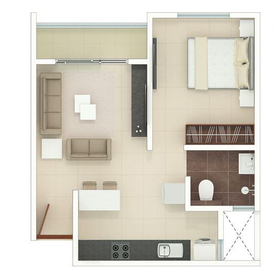 rohan upavan phase 2 apartment 1bhk 400sqft01